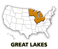 Great Lakes US map