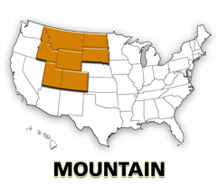 Mountain US map