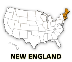 New England US map