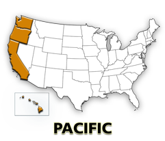 Pacific US map