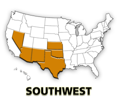 Southwest US map